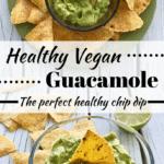 Pinterest image for healthy guacamole recipe