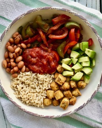High protein vegan bowl recipe