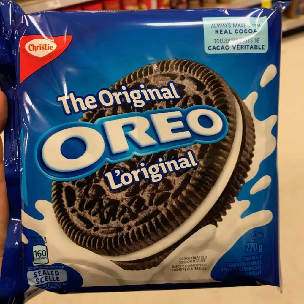 A package of Oreo cookies.