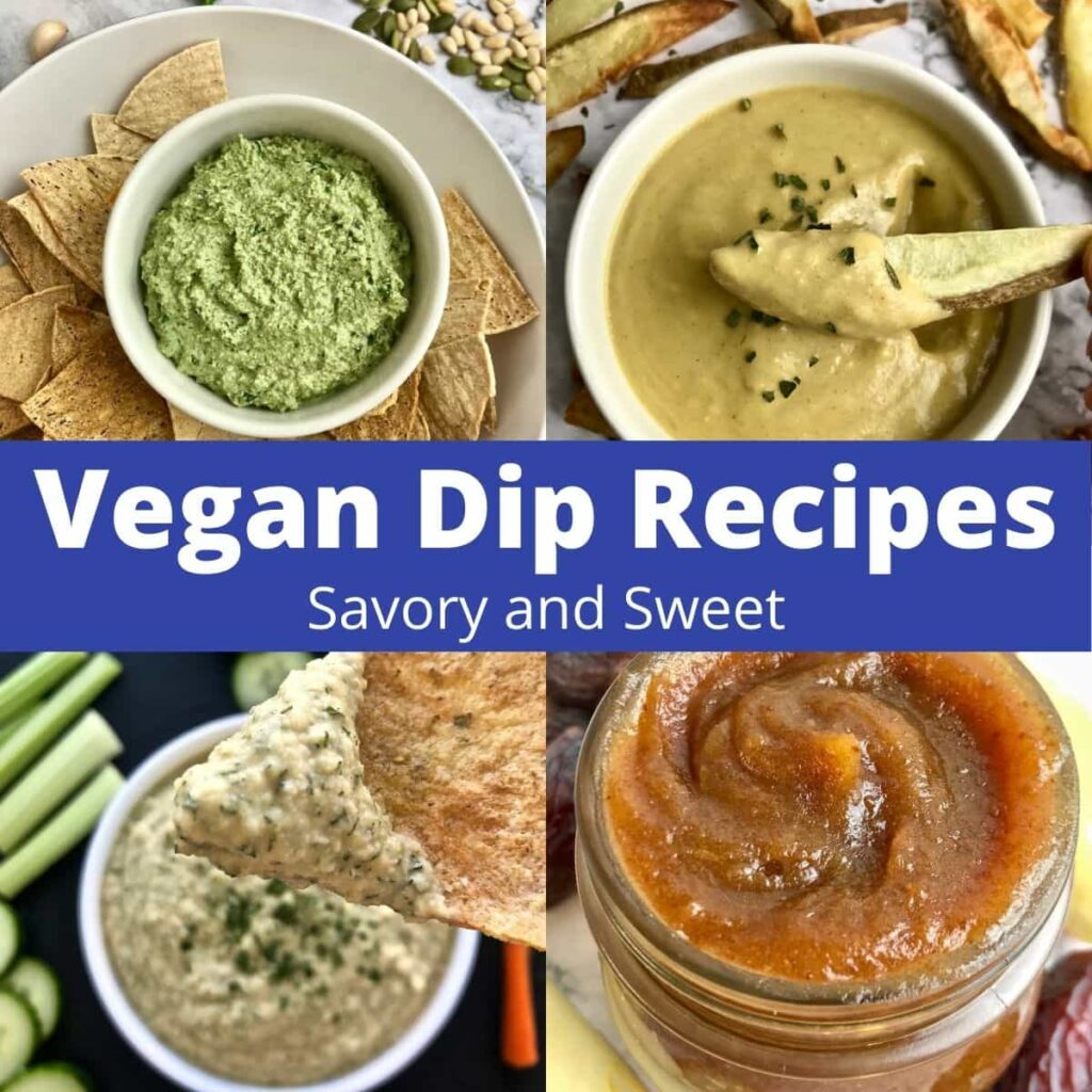 4 vegan dips.
